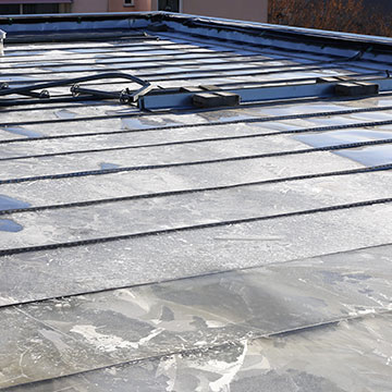 Réalisation d'un toit bac acier à Poitiers